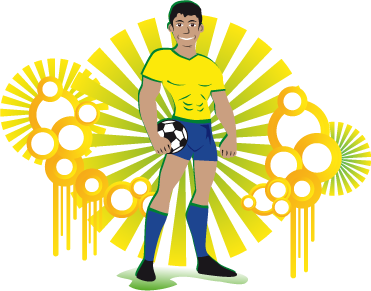 Image of Brazilian football player